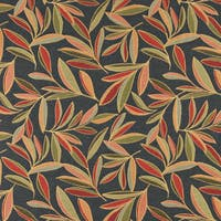 A0022C Red Green Blue Foliage Leaf Contemporary Upholstery Fabric