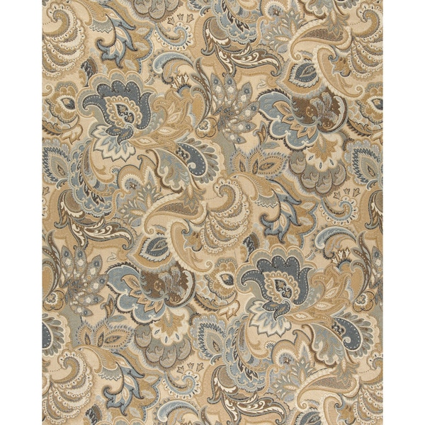 Shop A0025a Gold Blue And Green Abstract Paisley Upholstery Fabric