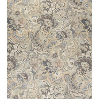 A0025D Blue White Gold Abstract Durable Floral Upholstery Fabric