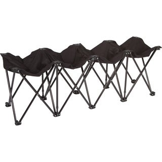 Trademark Innovations Portable 4 Seater Sits 4 People Sports Bench