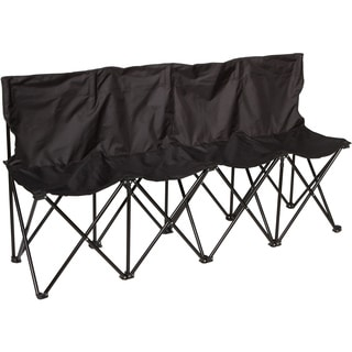 Trademark Innovations Portable Folding Sideline Collapsible Bench 4 Seats Sports Bench
