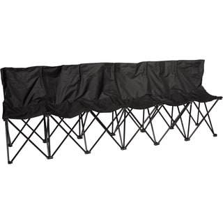 Trademark Innovations Black 6-person Folding Sports Sideline Bench