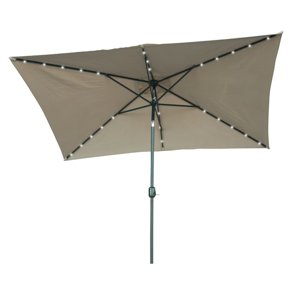 Led Patio Umbrella Reviews: Shop Trademark Innovations Rectangular Solar Powered LED