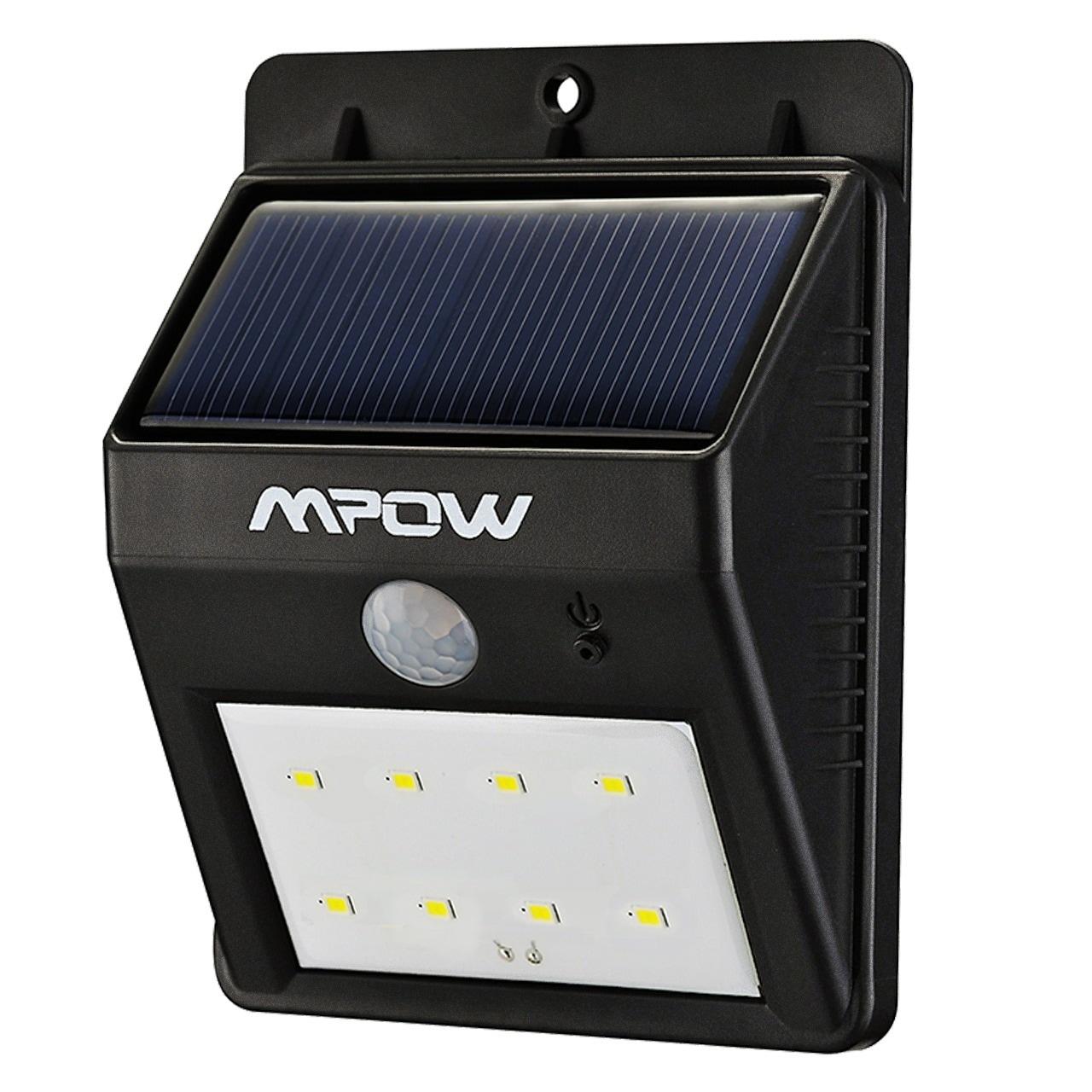 Mpow Solar Powerd Wireless LED Security Motion Sensor Lig...