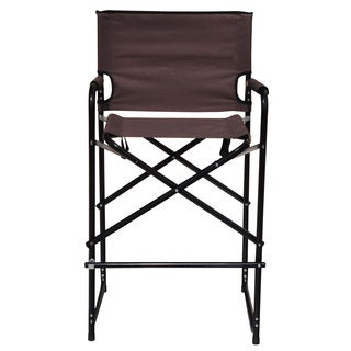 Trademark Innovations Lightweight and Durable Aluminum Folding Tall Director's Chair