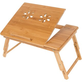 Trademark Innovations Folding Bamboo Bed Tray