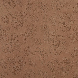 B815 White Floral Stain Resistant Microfiber Upholstery Fabric