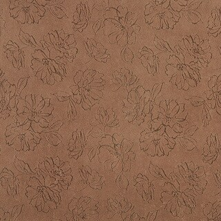 B815 White Floral Stain Resistant Microfiber Upholstery Fabric (2 options available)