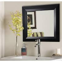 American Made Rayne Solid Black Angle Wall/ Vanity Mirror