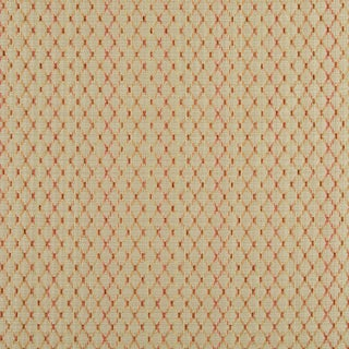A0070H Beige Red Orange Stitched Diamonds Upholstery Jacquard Fabric