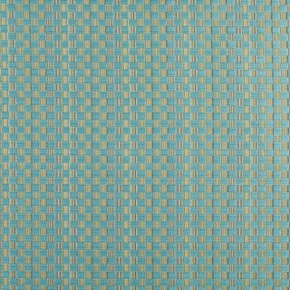 A0080G Turquoise And Green Checkered Upholstery Jacquard Fabric