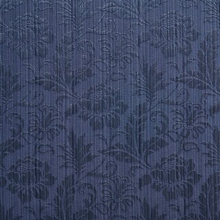 A0100B Navy Two Toned Floral Metallic Sheen Upholstery Fabric