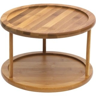 Lipper Bamboo Turntable, 2-Tier