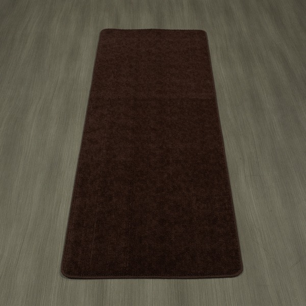 "Ottomanson Softy Collection Brown Solid Bathroom Rug (20"" x 59"")"