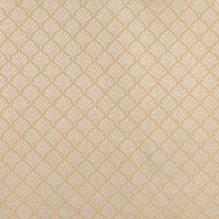 B662 Gold/ Small Scale Fan Woven Jacquard Upholstery Fabric