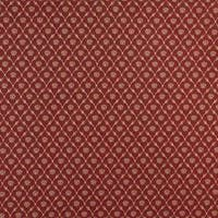 B643 Red/ Floral Trellis Woven Jacquard Upholstery Fabric