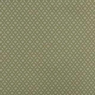 B640 Light Green/ Floral Trellis Jacquard Upholstery Fabric