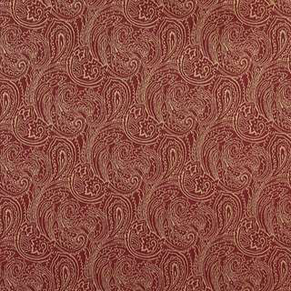 B634 Red/ Traditional Paisley Woven Jacquard Upholstery Fabric