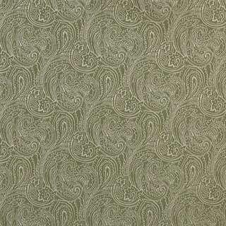 Light Green/ Traditional Paisley Jacquard Woven Upholstery Fabric