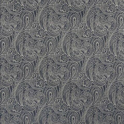 B627 Navy Blue/ Paisley Woven Jacquard Upholstery Fabric
