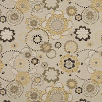 A0132A Gold Gray Tan Floral Woven Indoor Outdoor Upholstery Fabric