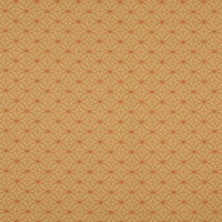 A0134A Orange Gold Circle Dot Woven Indoor Outdoor Upholstery Fabric