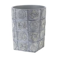 Galaxy Grey Resin Wastebasket