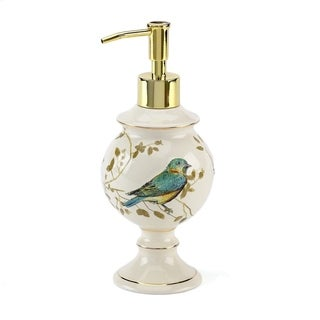 Link to Gilded Birds Off-white Ceramic Lotion Pump Similar Items in Soap Dishes & Dispensers