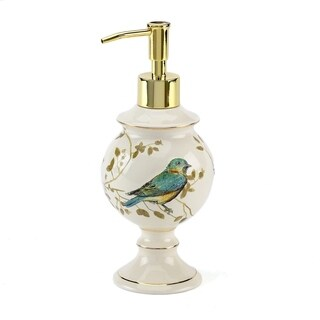 Gilded Birds Off-white Ceramic Lotion Pump