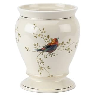 Gilded Birds Off-white Ceramic Wastebasket|https://ak1.ostkcdn.com/images/products/10288389/P17402821.jpg?impolicy=medium