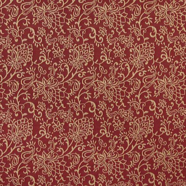 Shop B607 Red Floral Contemporary Woven Jacquard Upholstery Fabric