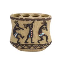 Kokopelli Multi/ Blue Resin Toothbrush Holder
