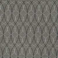 Grey Black And Silver Overlapping Ovals Upholstery Fabric