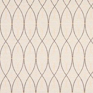 Grey And Gold Contemporary Overlapping Ovals Upholstery Fabric