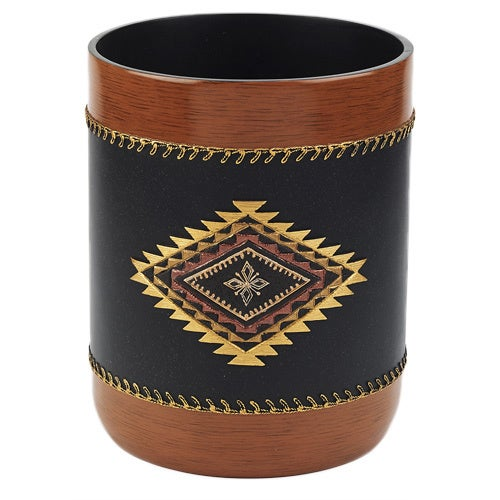 Mojave Brown Resin Wastebasket
