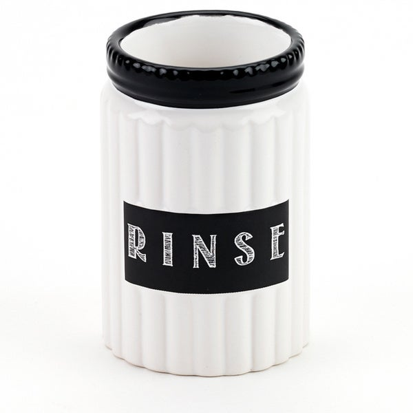 Chalk It Up White/ Black Ceramic Tumbler