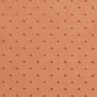 B151 Persimmon Embroidered Dots Suede Upholstery Fabric