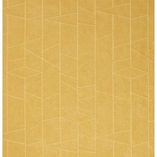 B136 Gold Embroidered Stitched Ultra Durable Suede Upholstery Fabric