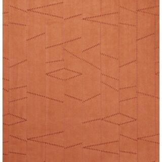 B135 Persimmon Frankenstein Stitch Suede Upholstery Fabric