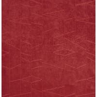 B132 Burgundy Embroidered Stitched Suede Upholstery Fabric