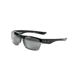 Oakley Polished Black Twoface Sunglasses with Black Iridium Polarized Lenses