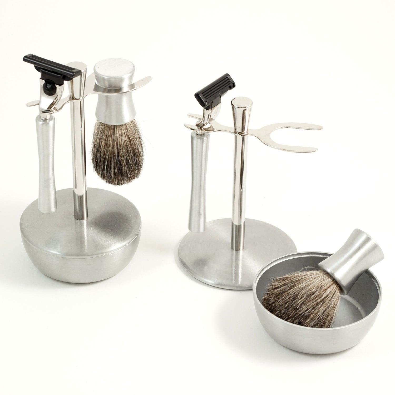 Razor Robby Mach 3 Shave Set (Silver)