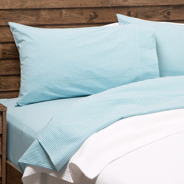 Oxford Stripe 100-percent Cotton Yarn Dyed Standard Pillowcase Set (Set of 2)