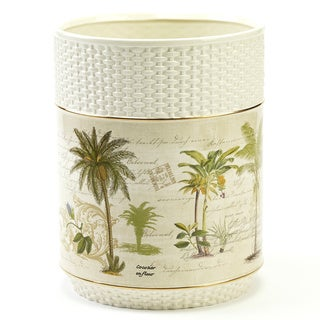 Colony Palm Multi-colored Ceramic Wastebasket