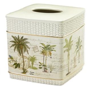 Colony Palm Multi-colored Ceramic Tissue Cover