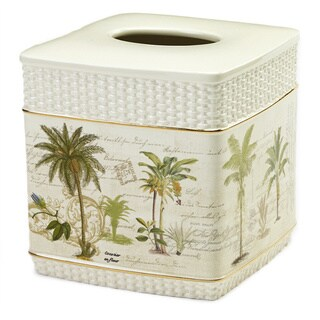 Colony Palm Multi-colored Ceramic Tissue Cover