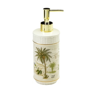 Colony Palm Multi-colored Ceramic Lotion Pump