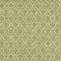 A138 Light Green Foliage And Bouquets Upholstery Fabric