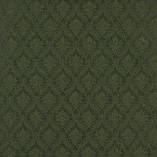 A143 Dark Green Foliage And Bouquets Upholstery Fabric