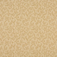 A153 Beige And Tan Foliage And Flowers Upholstery Fabric